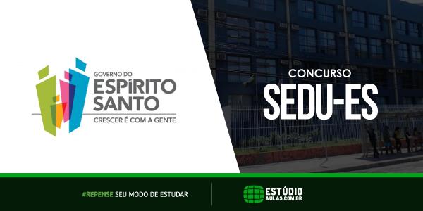 Edital do Concurso SEDU ES