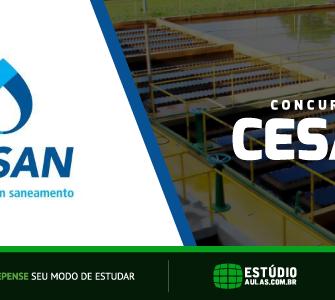 Concurso Cesan edital