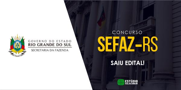 Edital Sefaz RS 2018