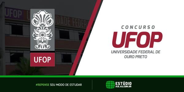 Concurso UFOP 2018 edital